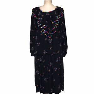 Escada Vintage floral skirt Set. Size 36